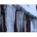 Размразяване на сняг и лед от покриви, улуци и тръби